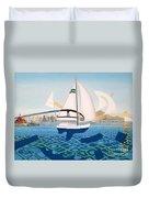 Coronado Sailin' - Memoryscape Duvet Cover