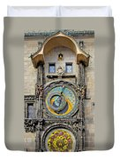 Orloj - Prague Astronomical Clock Duvet Cover
