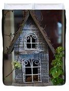 Ornamental Bird House Duvet Cover