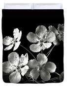 Ornamental Pear In Black And White Duvet Cover
