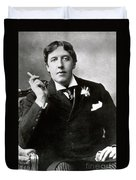Oscar Wilde, Irish Author Duvet Cover by Photo Researchers
