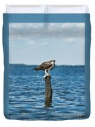 Osprey With Catch. Duvet Cover