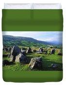 Ossians Grave, Co Antrim, Ireland Stone Duvet Cover