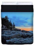 Otter Point At Dawn Duvet Cover