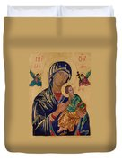 Our Mother Of Perpetual Help Duvet Cover