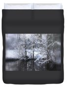 Our Pond In The Snow Duvet Cover
