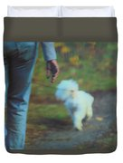 Out For A Stroll Duvet Cover by Karol Livote