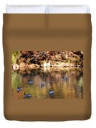 Out For A Swim Duvet Cover by Bill Cannon