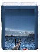Out Into The Bay Duvet Cover