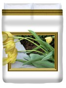 Out Of Frame Yellow Tulips Duvet Cover