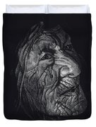 Out Of Greaheadedness Wisdome Comes Forth Duvet Cover by Yenni Harrison