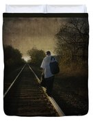 Out Of The Darkness Duvet Cover by Betty LaRue