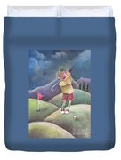 Out On The Course Duvet Cover