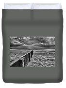 Out To Sea Monochrome Duvet Cover