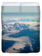 Over Alaska Duvet Cover