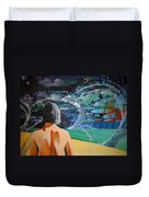 Over Looking The Bay Of Cadiz Duvet Cover