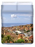 Over The Roofs Of Sanremo Duvet Cover by Joana Kruse