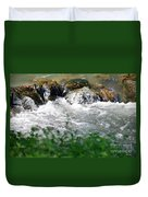 Over The Stones The Water Flows Duvet Cover