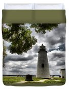 Overcast Clouds At Turkey Point Lighthouse Duvet Cover