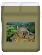 Overlooking The French Countryside Duvet Cover