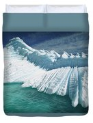 Overturned Iceberg With Eroded Edges Duvet Cover