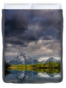 Oxbow Light And Clouds Duvet Cover