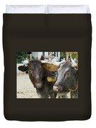 Oxen Pair Duvet Cover