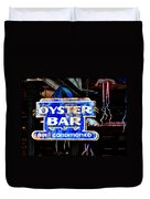 Oyster Bar Sign Duvet Cover
