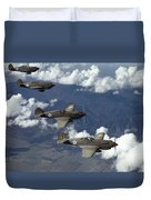 P-40 Pursuits Of The U.s. Army Air Duvet Cover
