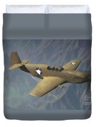 P 51 Mustang On A Mission Duvet Cover