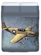 P51 Mustang In Flight Duvet Cover