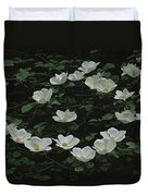 Pacific Dogwood Blossoms Duvet Cover
