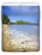 Pacific Ocean Coast On Vancouver Island Duvet Cover