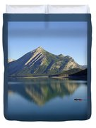 Sunrise Paddle In Peace - Kananaskis, Alberta Duvet Cover