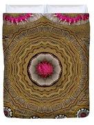 Pagoda Of Lotus Pop Art Duvet Cover