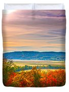 Paint Valley From Valley View Golf Duvet Cover