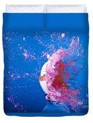 Paintball Hitting An Egg Duvet Cover
