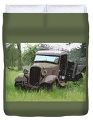 Painted 30's Chevy Truck Duvet Cover by Steve McKinzie