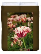 Painted Candy Cane Tulip Duvet Cover