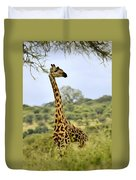 Painted Giraffe Duvet Cover