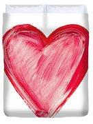 Painted Heart - Symbol Of Love Duvet Cover