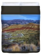 Painted Hills At Dusk Duvet Cover