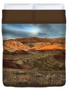 Painted Hills In The Fossil Beds Duvet Cover