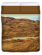Painted Hills Lake Duvet Cover
