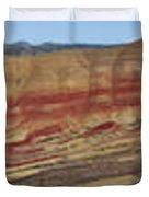 Painted Hills Panoramic Duvet Cover