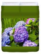 Hydrangea In Garden - Painted Duvet Cover