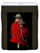 Painted Mounties Duvet Cover