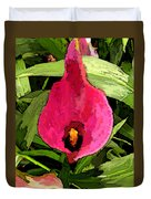 Painted Pink Cala Lily Duvet Cover