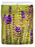Painted Purple Sage Salvia Duvet Cover