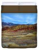 Painted Sky Over Painted Hills Duvet Cover
